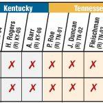 chart of legislators' votes