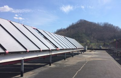Solar panels on roof of jail