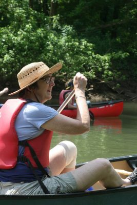 Diana canoeing