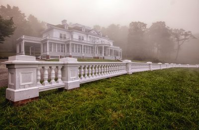 The Moses Cone Estate on a foggy day