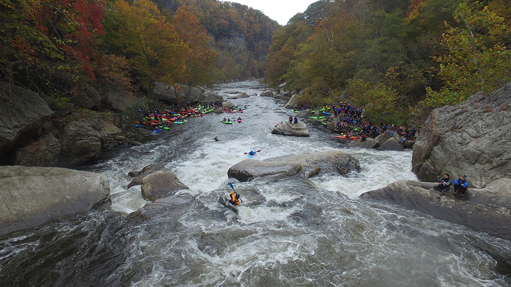 Kayakers on Russell Fork