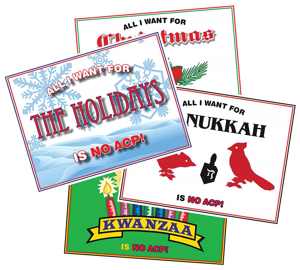 no ACP holiday post cards