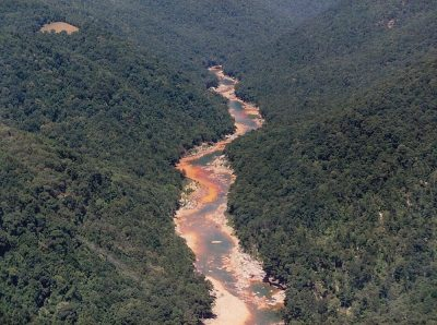 Cheat River flows orange