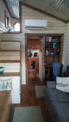 vertical interior photo of tiny house