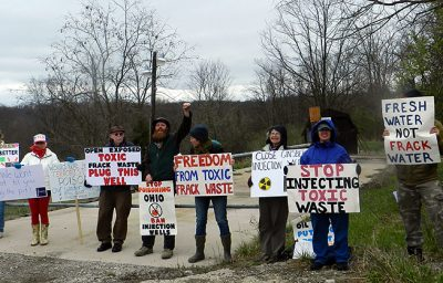 protest against frack waste disposal