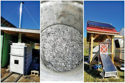 biochar kiln, biochar, and dehydrator
