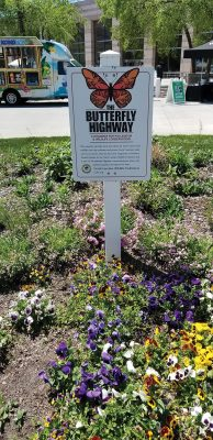 Butterfly Highway sign