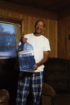 Dave Webster with water jug