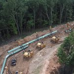Mountain Valley Pipeline Construction Bird's Eye View