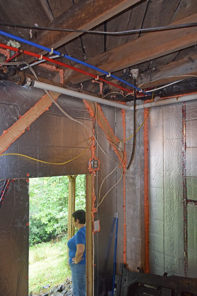 updated insulation in the crawlspace