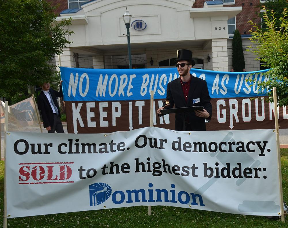 Dominion protest