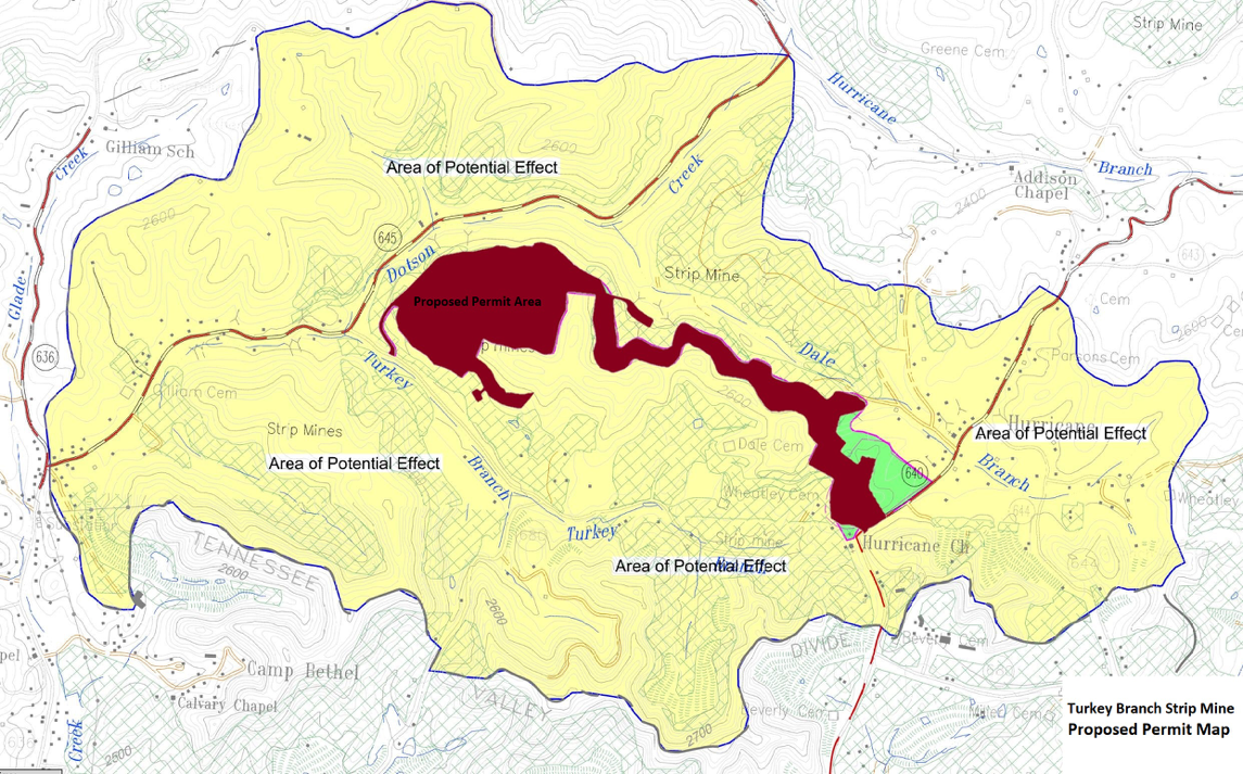 proposed surface mine map