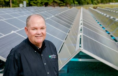 General manager w solar panels