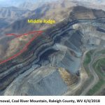 area at risk of mining, shown near adjacent mountaintop removal mine