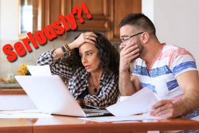 couple surprised by high energy bill