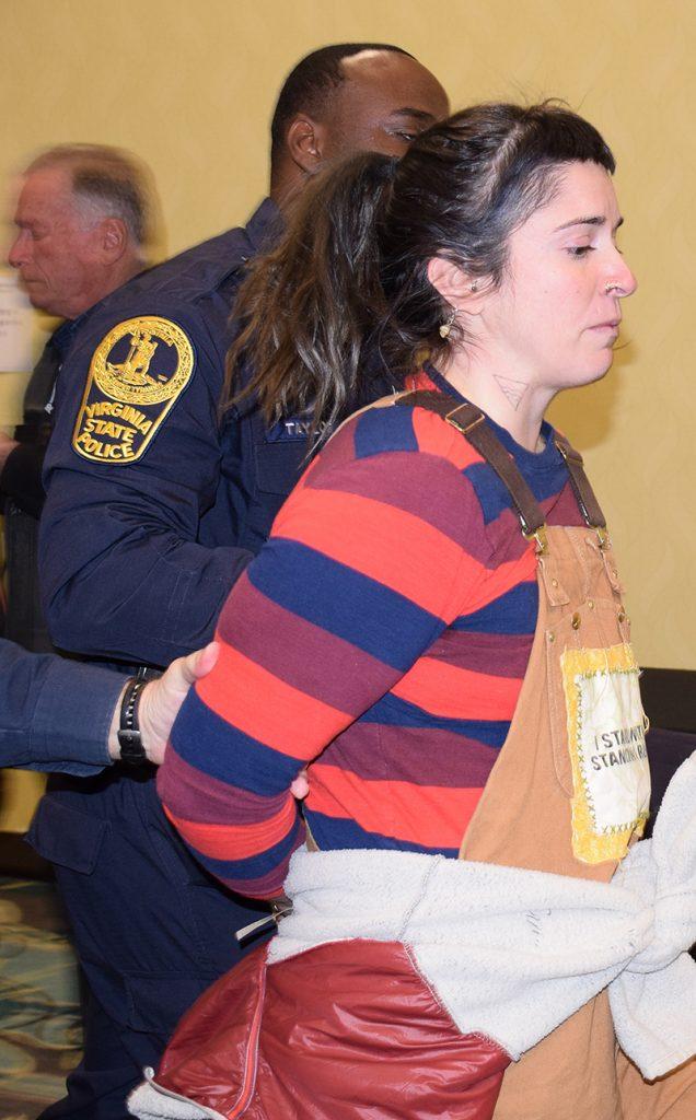 protestor arrested