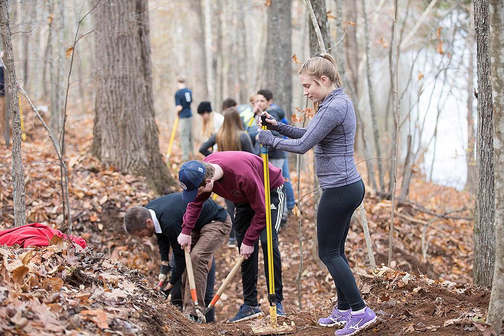 kids building trails