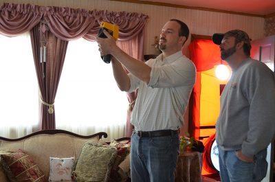 Two men doing an energy audit