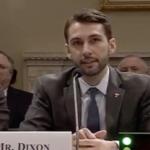 Eric Dixon sits before microphone