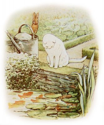An illustration from Peter Rabbit by Beatrix Potter