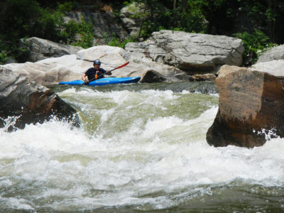 A paddler on the Nolichucky