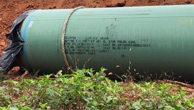 a section of the pipeline
