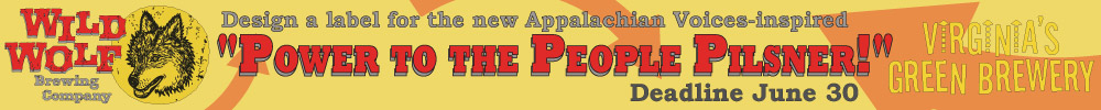 Design a lable for the new Appalachian Voices-inspired Power to the People Pilsner by Wild Wolf Brewing, Enter Now!