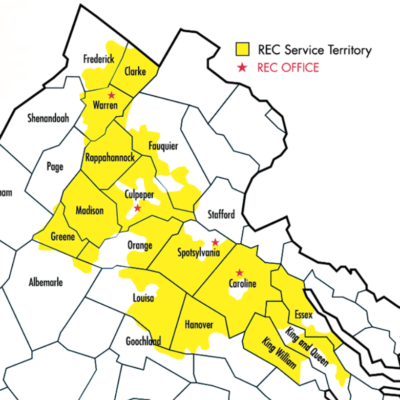 REC service area map