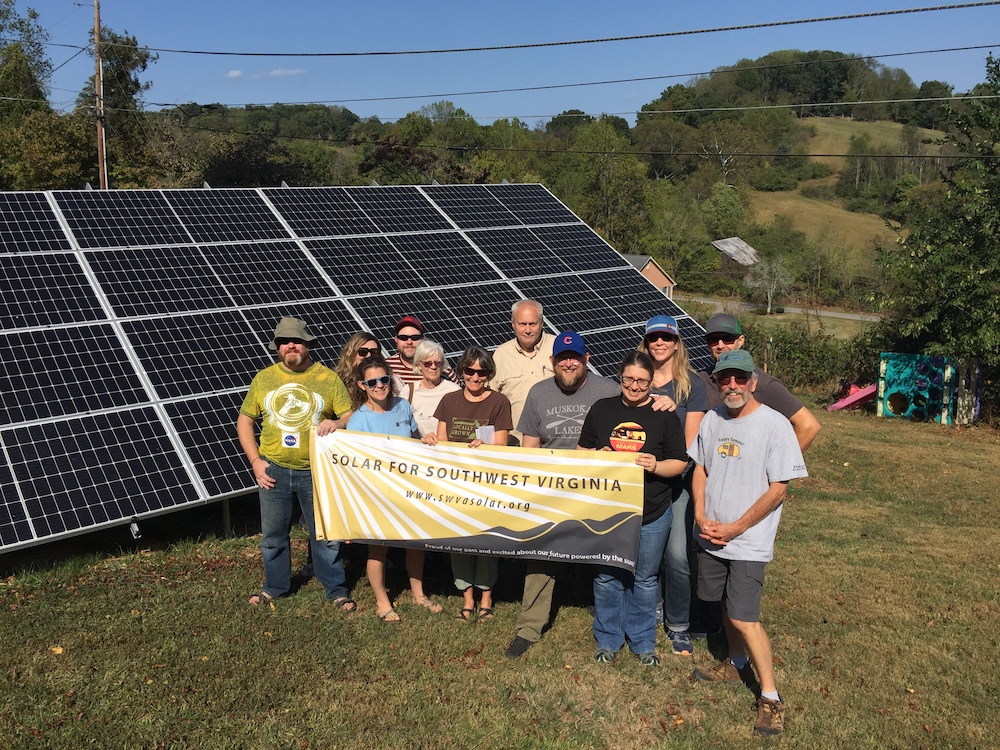 people by solar panel