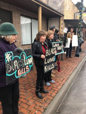 protest for black lung benefits