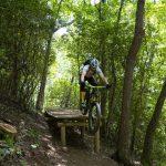Airborne bike rider
