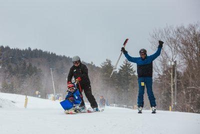adaptive ski setup