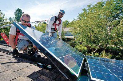 A solar installation photo by NREL