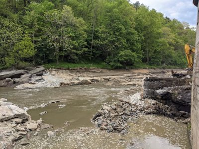after ward mill dam removal