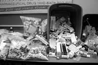 The first Operation Medicine Cabinet in Watauga County, N.C. was a huge success, collecting thousands of pills. Photo by Jamie Goodman