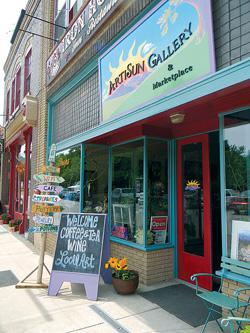 Artisun Gallery in Hot Springs North Carolina. Photo by Jillian Randel