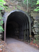 The entrance to the 402-foot-long Droop Mountain Tunnel. Photo by Joe Tennis.