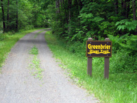 A gentle, one percent grade makes the Greenbrier Trail perfect for multiple sports, such as biking, trail running, and skiing in the winter.  Photo by Joe Tennis.