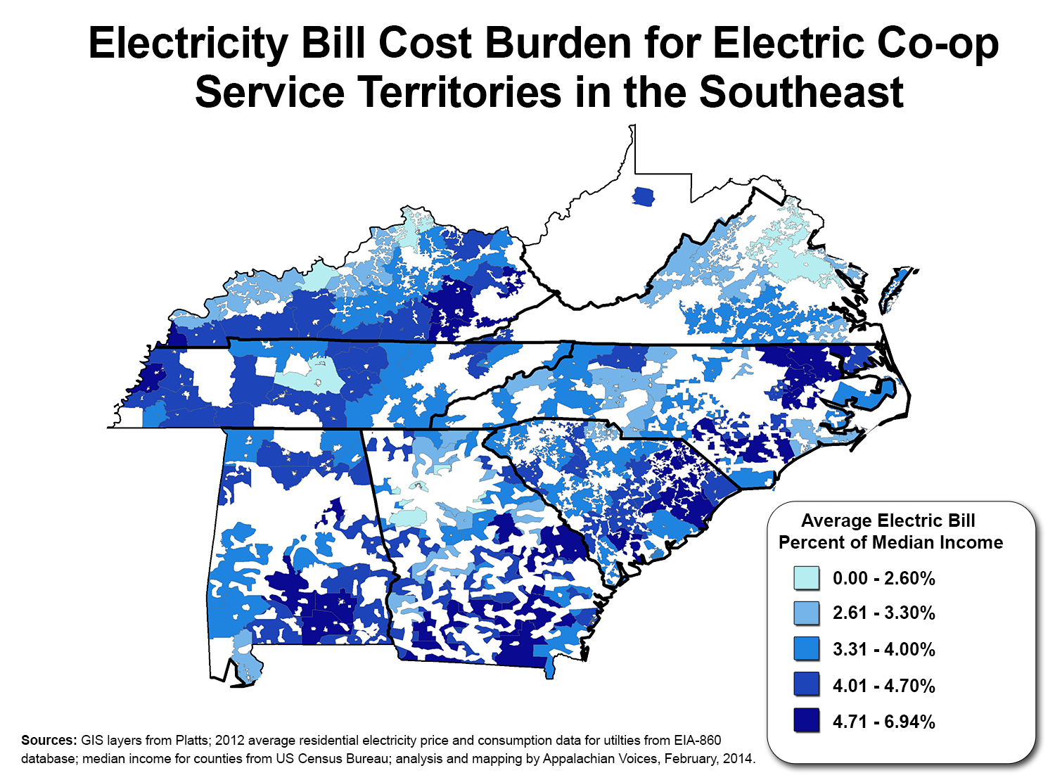 Google Features Map Of Poverty And Electricity Costs In The South As Part Of Worldwide Launch Of Interactive Maps Gallery